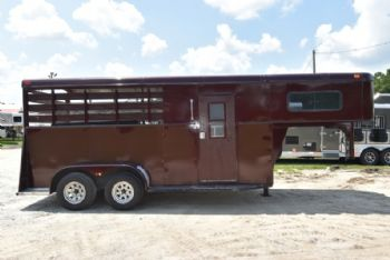 #G7288 - Used 1995 Adam 2HSGN 2 Horse Trailer  with 7' Short Wall