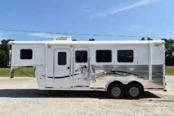 #00593 - Used 2007 American Spirit 305LQ 3 Horse Trailer  with 5' Short Wall