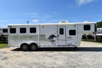 #00387 - Used 2006 American Spirit 7308 3 Horse Trailer  with 8' Short Wall