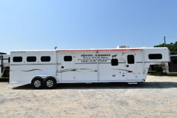 #33419 - Used 2009 Trails West 7310GLQMT 3 Horse Trailer  with 10' Short Wall