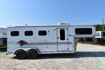 #A1749 - Used 1998 Sundowner 3HSL 3 Horse Trailer  with 2' Short Wall