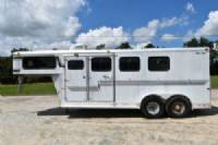 #32286 - Used 1999 Starlite 7304 3 Horse Trailer  with 4' Short Wall