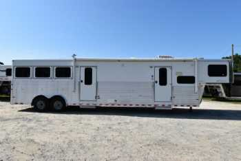 #A5087 - Used 2008 Sundowner 8312MTLQ 3 Horse Trailer  with 12' Short Wall