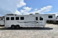 #01120 - Used 2005 Cherokee Super Chief 4 Horse Trailer  with 8' Short Wall