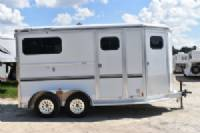 #23198 - Used 2000 Jamco  2 Horse Trailer  with 4' Short Wall