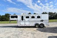 #A1904 - Used 1998 Sundowner 7304GN 3 Horse Trailer  with 4' Short Wall