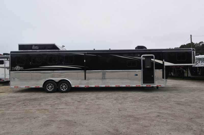 #08051 - New 2018 Bison Ranger 8413GBSO 4 Horse Trailer with 13' Short Wall