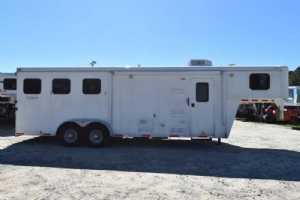 used 3 horse american spirit horse trailer with living quarters horse trailer cover 01864 used 2012 bison trail hand 3 horse trailer with 8' short wall