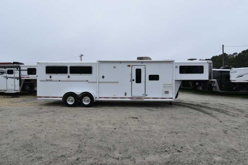 #73478 - Used 2008 Shadow 7312GLQ 3 Horse Trailer with 12' Short Wall