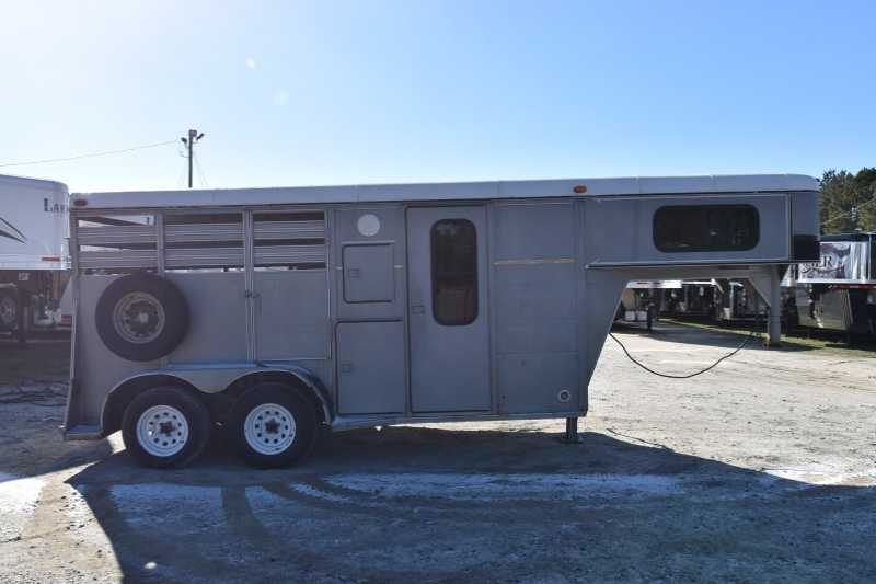 #56323 - Used 1999 Big Valley 2H 2 Horse Trailer with 4' Short Wall