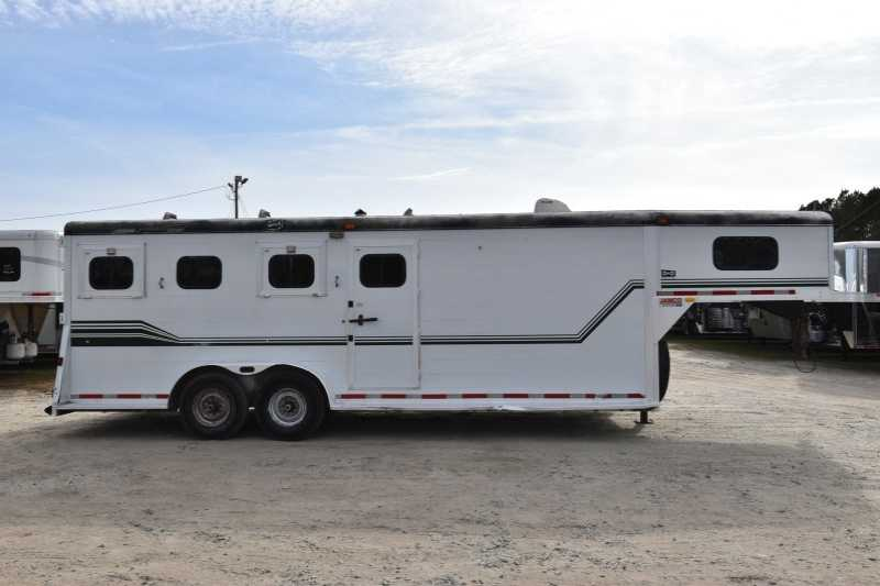 #23774 - Used 1995 Jamco 7404GN 4 Horse Trailer with 4' Short Wall