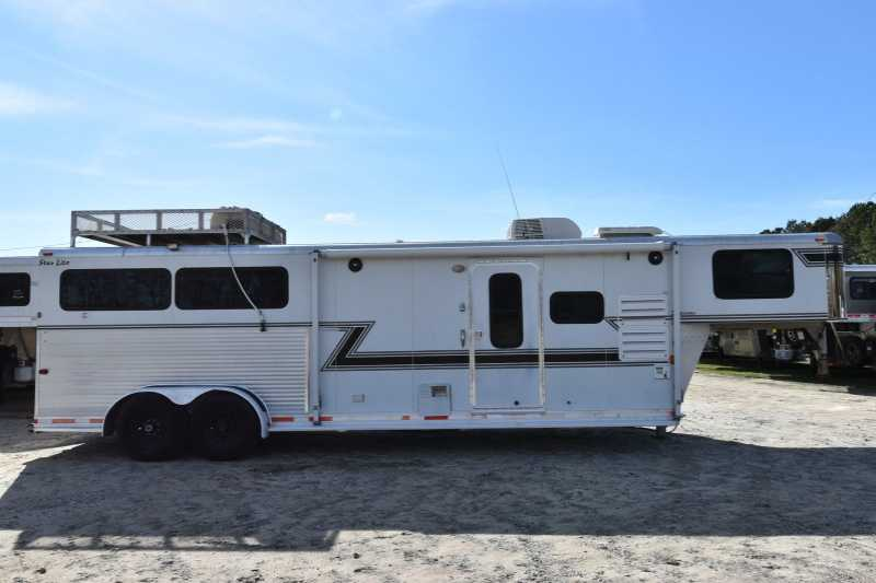 #01887 - Used 2003 Silver Star 7310GLQ 3 Horse Trailer with 10' Short Wall
