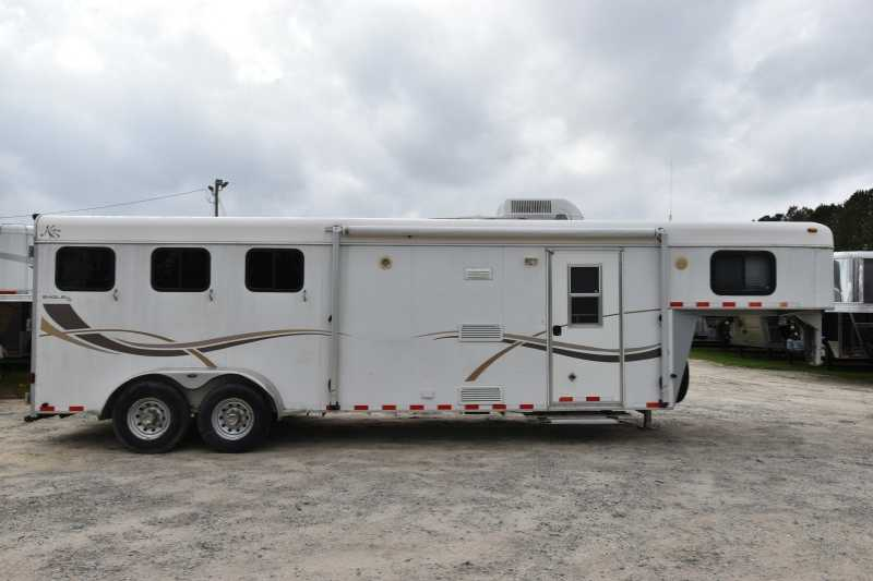 #45044 - Used 2003 Kiefer Built 3 Horse Trailer with 9' Short Wall