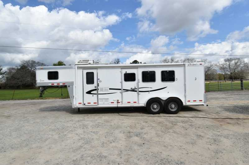 #00873 - Used 2005 Cherokee STAL 3 Horse Trailer with 8' Short Wall