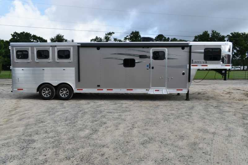 #00362 - New 2019 Lakota Charger 8313RKGLQ 3 Horse Trailer with 13' Short Wall