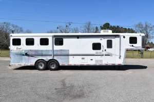 Used 2006 Bison  4 Horse Trailer  with 10' Short Wall