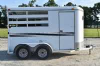 #77417 - Used 2012 Bee 2HSLBP 2 Horse Trailer  with 2' Short Wall