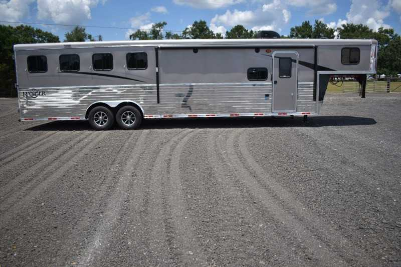 #08548 - New 2019 Bison Ranger 8411SO 4 Horse Trailer with 11' Short Wall