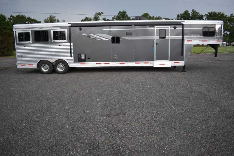 #00630 - New 2019 SMC SL8316SSR 3 Horse Trailer  with 16' Short Wall