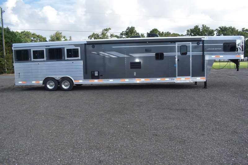 #00635 - New 2019 SMC SL8418SCEB 4 Horse Trailer  with 18' Short Wall