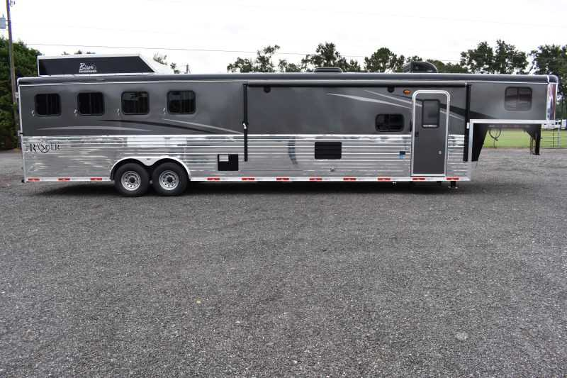 #08694 - New 2019 Bison Ranger 8414LBK 4 Horse Trailer  with 14' Short Wall