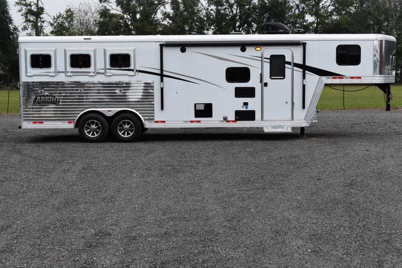 #08741 - New 2019 Bison Laredo 8309 3 Horse Trailer with 8' Short Wall