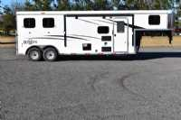 #08761 - New 2019 Bison Ranger 8209 2 Horse Trailer  with 9' Short Wall