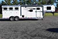 #01240 - New 2019 Lakota 8309LQ 3 Horse Trailer  with 9' Short Wall