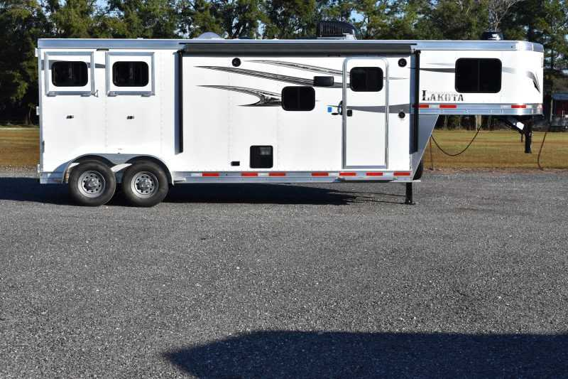 #01329 - New 2019 Lakota 7209LQ Charger 2 Horse Trailer  with 9' Short Wall