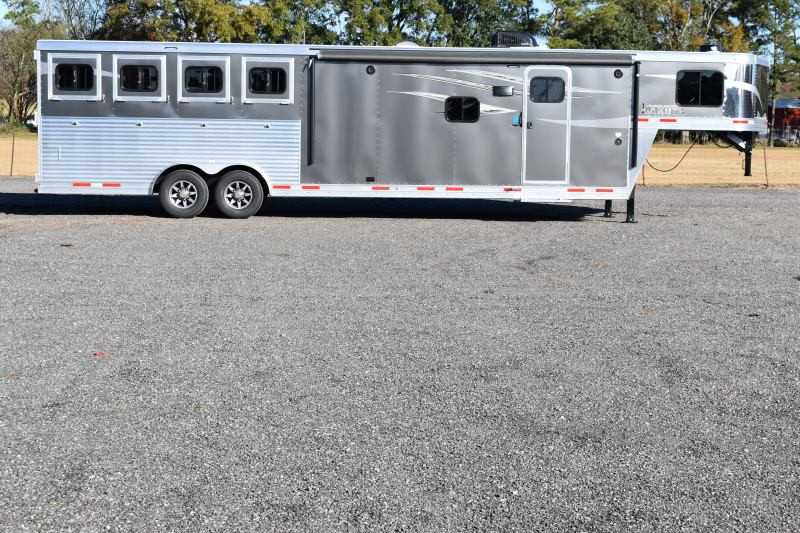 #01380 - New 2019 Lakota Charger 8413RKGLQ 4 Horse Trailer  with 13' Short Wall