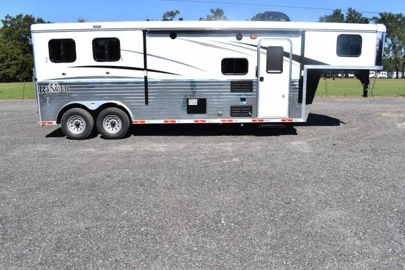 #08882 - New 2019 Bison Ranger 8209SO 2 Horse Trailer with 9' Short Wall