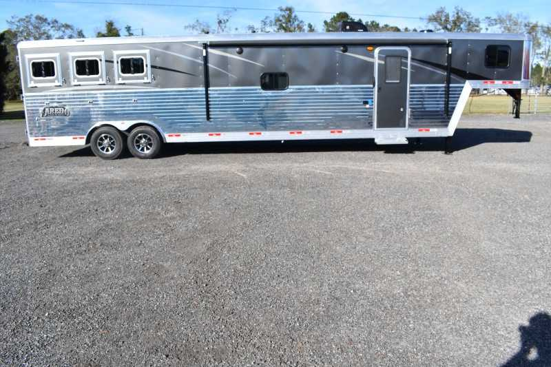 #08889 - New 2019 Bison Laredo 8316SODR 3 Horse Trailer with 16' Short Wall