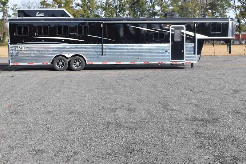 #08894 - New 2019 Bison Ranger 8413GBSO 4 Horse Trailer with 13' Short Wall